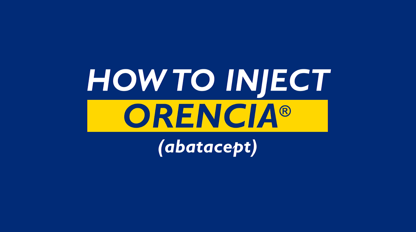 How to Inject Orencia