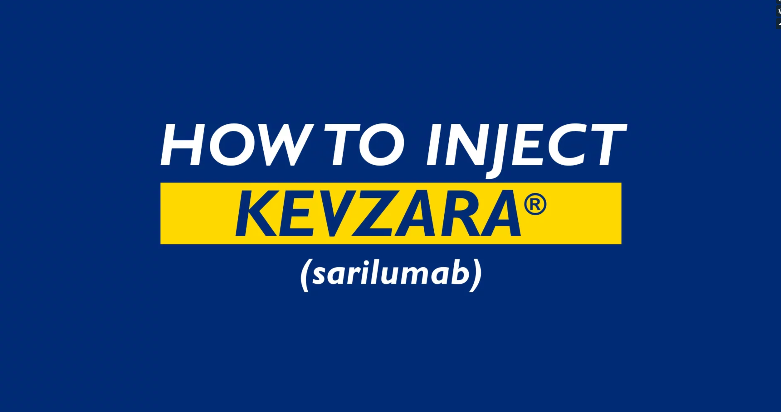 How To Inject Kevzara (sarilumab)