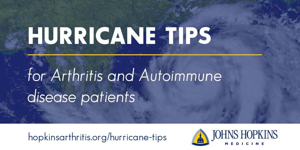 Hurricane Preparation Tips for Arthritis and Autoimmune Disease Patients