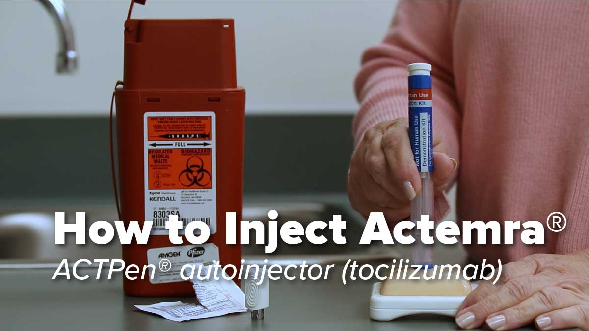 How to Inject Actemra ACTPen® autoinjector (tocilizumab)